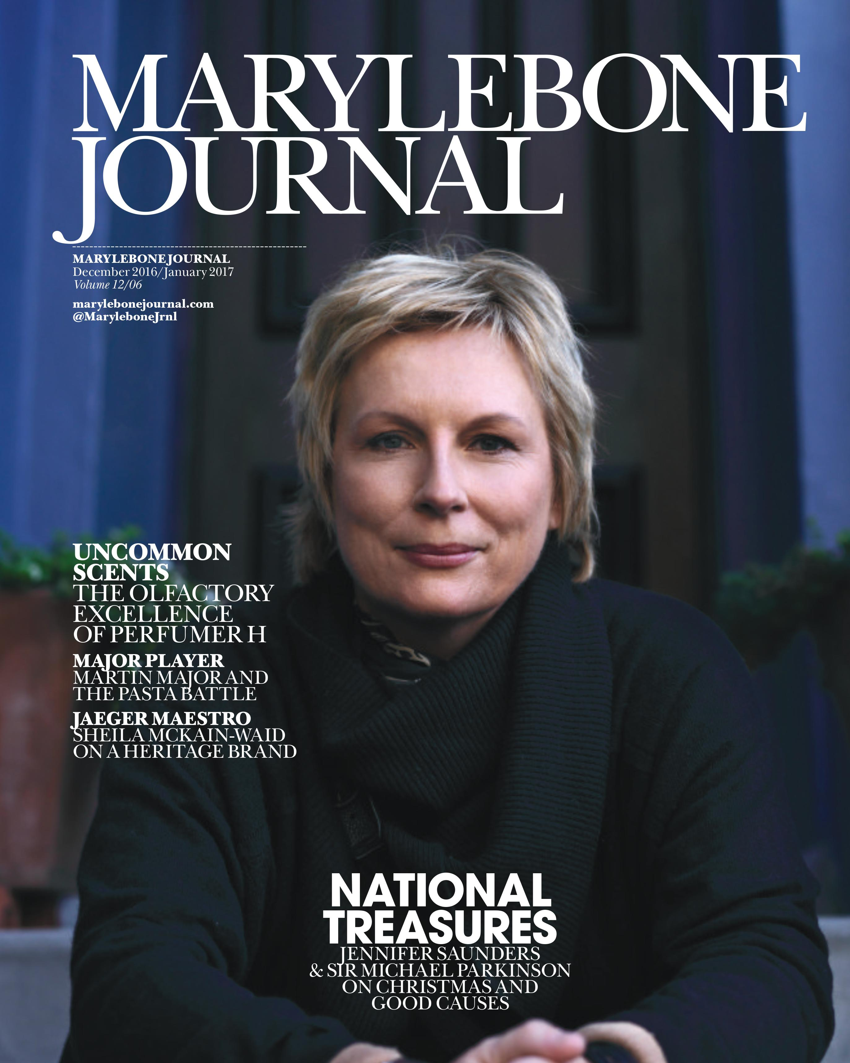 Front cover of December 2016 edition of the Marylebone Journal